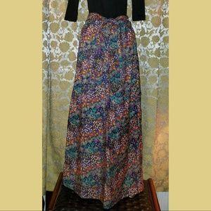 Vintage 70s floral maxi skirt